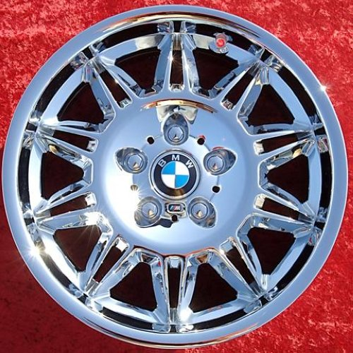 "SET OF 4 CHROME 17"" BMW M3 STYLE 39 E36 OEM WHEELS RIMS Z3"