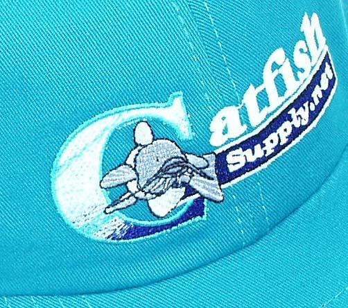 Teal Cotton Catfish Supply Fishing Style Cap Hat New Ebay