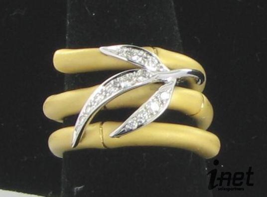 Carrera Y Carrera 18k Diamond Bambu Zen Ring 7.5 $4995