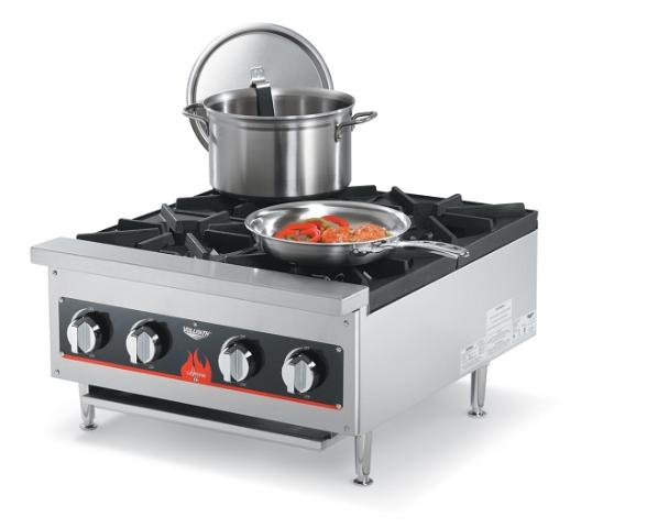 Details about Vollrath 4-Burner Gas Countertop Range, New