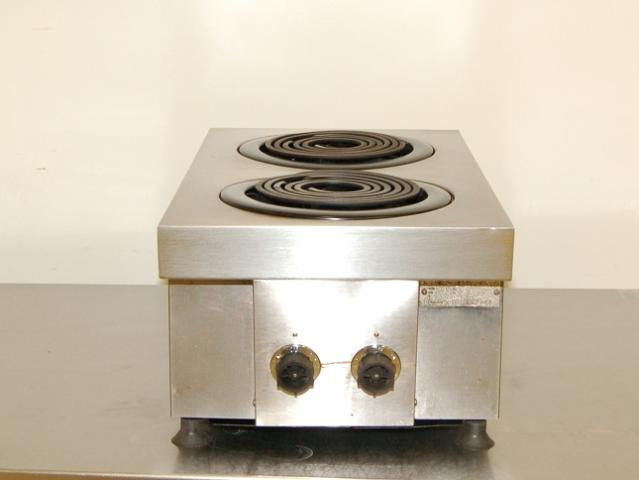 Countertop Electric Stove Top Burner : Used Hobart 2-Burner Countertop Electric Range