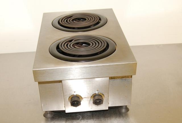 Countertop Electric Stove Top Burner : hobart 2 burner electric countertop range used hobart 2 burner