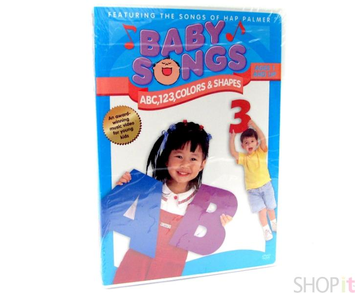 baby songs dvd abc 123 color shapes music hap palmer ebay. Black Bedroom Furniture Sets. Home Design Ideas