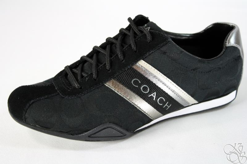 COACH Jayme Signature Black Womens Sneakers Shoes New ...