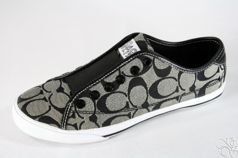 COACH Bev Black/White Signature Slip-On Sneakers Shoes | eBay