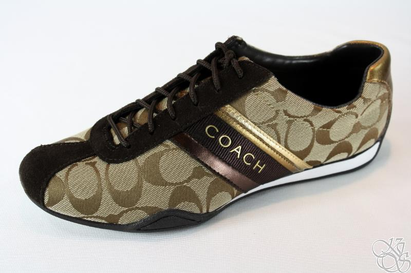 COACH-Jayme-Signature-Khaki-Chestnut-Womens-Sneakers-Shoes-A1585-New