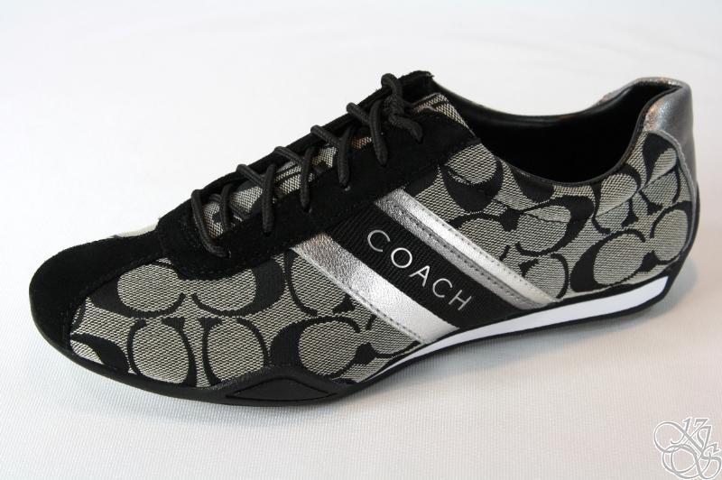 COACH Jayme Signature Black / White / Black Sneakers Shoes ...