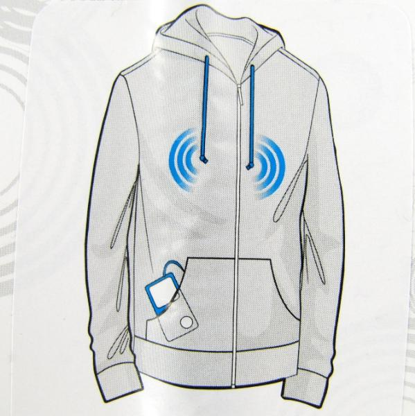 Hoodie with earbuds