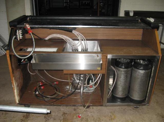 5 Ft. Portable Wet Bar W/CO2 Carbonator W/Pumps Gun Lines