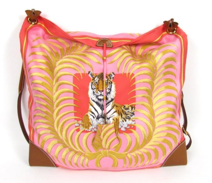 Hermes Silky City Shoulder Bag Handbag Tiger Royal Prnt | eBay