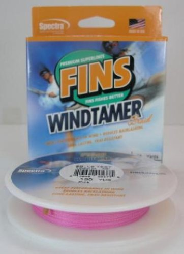 fins windtamer braid fishing line 50 150yd pink color ebay