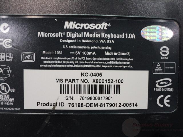 Microsoft Digital Media Pro Keyboard 1031 Driver Download