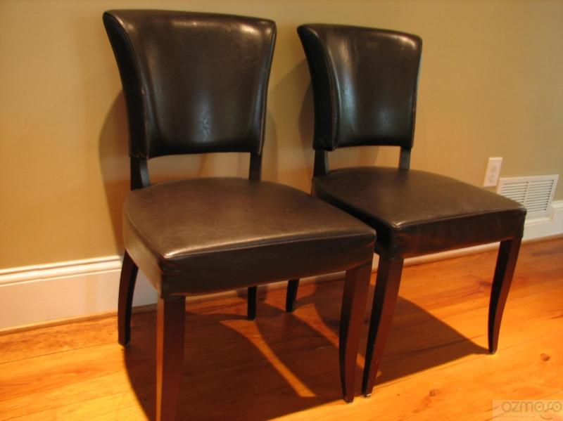 French Deco Pottery Barn Choclate Brown Leather Office