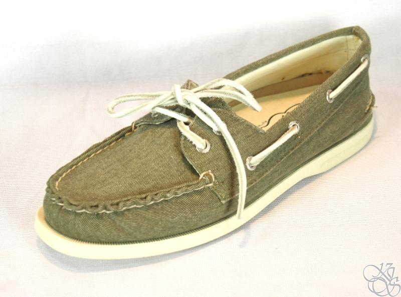 sperry top sider a o olive canvas womens boat shoes ebay