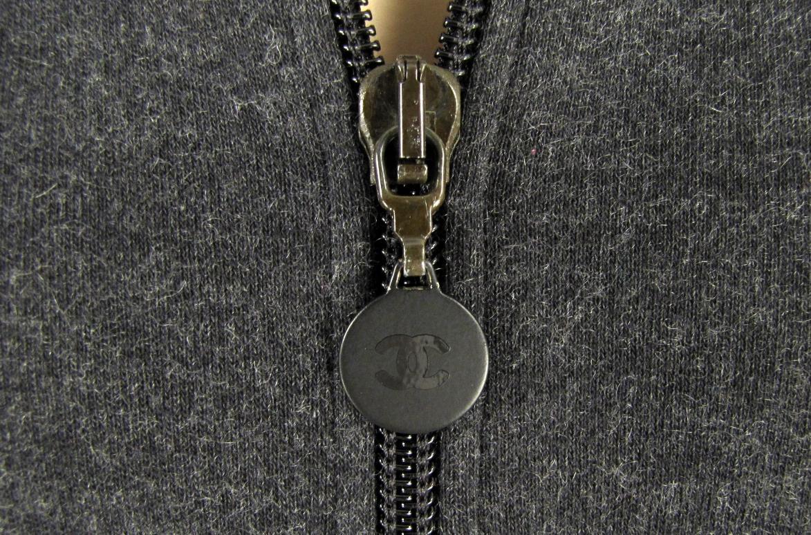Details about chanel gray 2 piece cashmere blend sweatsuit top pant s