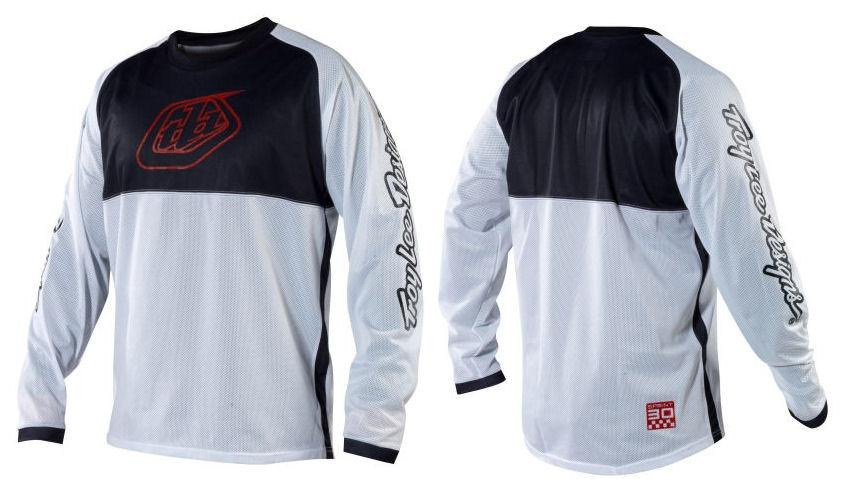 2012-Troy-Lee-Designs-Sprint-White-Long-Sleeve-Jersey-TLD-All-Sizes-Cycling