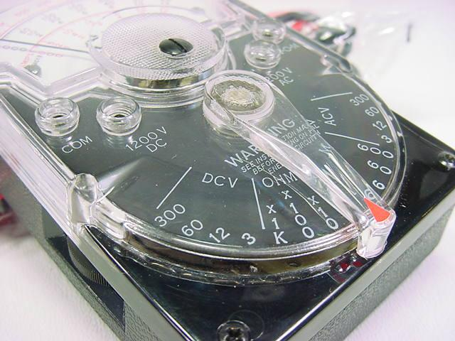 Triplett Analog Multimeter : Triplett model type mini analog volt ohm meter vom