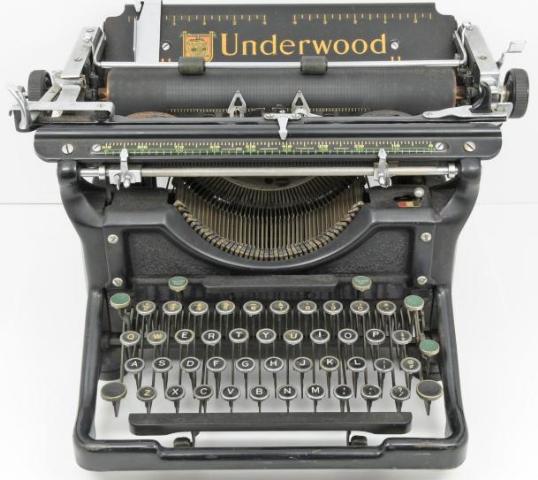 Vintage Underwood Number 6 Standard Champion Typewriter