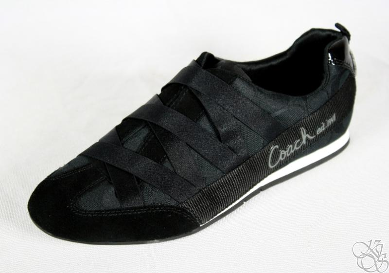 coach harmonie signature c black slip on sneakers shoes