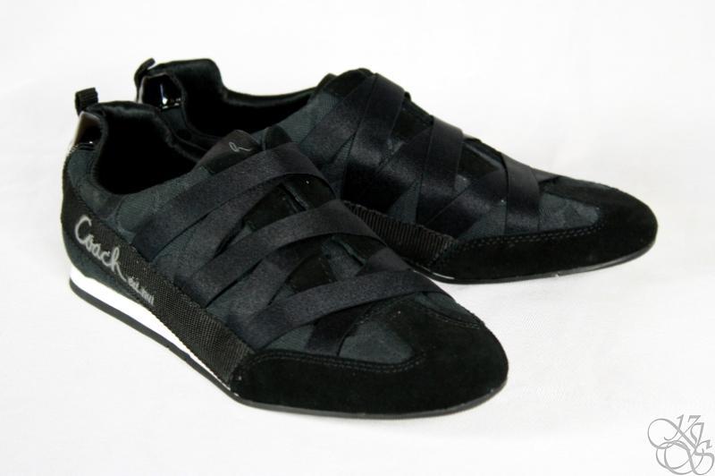 COACH Harmonie Signature C Black Slip-On Sneakers Shoes ...