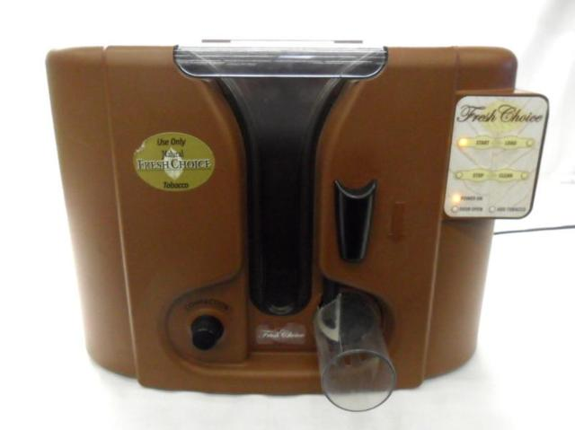 Fresh Choice Electric Cigarette Machine http://www.ebay.com/itm/Fresh-Choice-Brown-Electric-Cigarette-Maker-Machine-Model-R1001-/350515020588