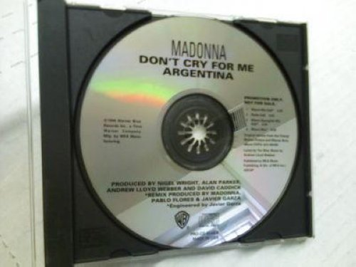 Madonna - Don't Cry For Me Argentina 4tk Promo Cd Cs238