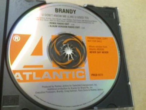 Brandy - U Don't Know Me 2trk Remix Promo Cd Single Cs73