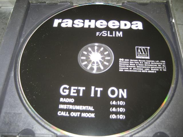 Rasheeda Get It On Feat. Slim 3trk Promo Cd Cs326 CD:SINGLE