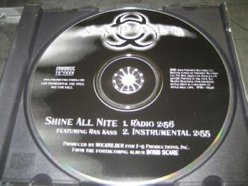 Napalm Shine All Nite 2trk Promo Cd Cs273 CD:SINGLE