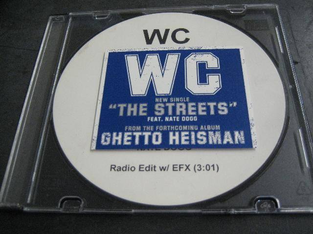 Wc - Streets Nate Dogg Test Press 1trk Promo Cd Cs423