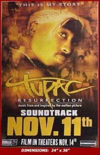 Tupac Resurrection Soundtrack 24x36 Poster P1791