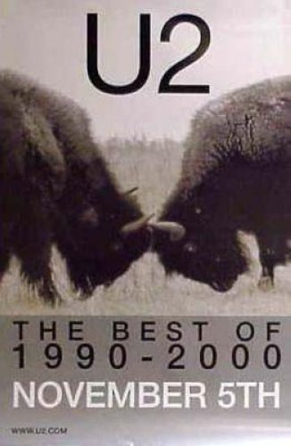 U2 - The Best Of 1990 To 2000 In Stores 24x36 Poster