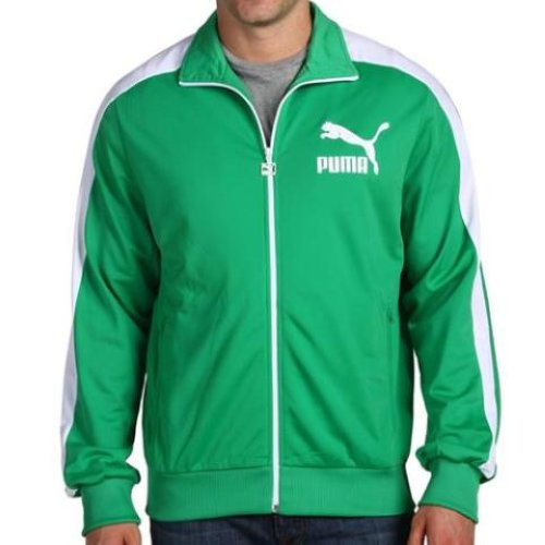 New Men S Puma Heroes T7 Track Jacket Green Various Sizes