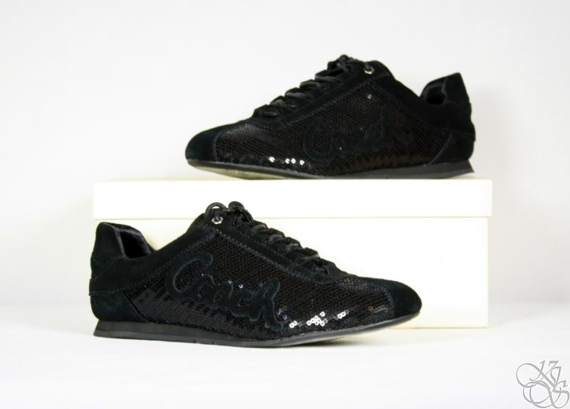 Details about COACH Hope Casual / Dress Black Sequins Womens Sneakers