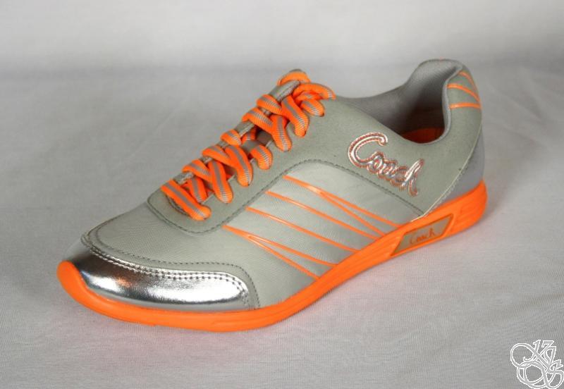 COACH-Darla-Nylon-Light-Weight-Grey-Orange-Womens-Sneakers-Shoes-New-A1220