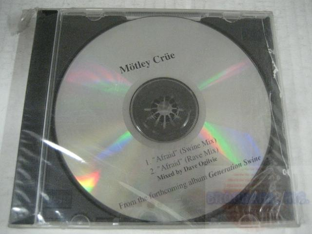Motley Crue - Afraid 2trk Mix Promo Cd Cs264