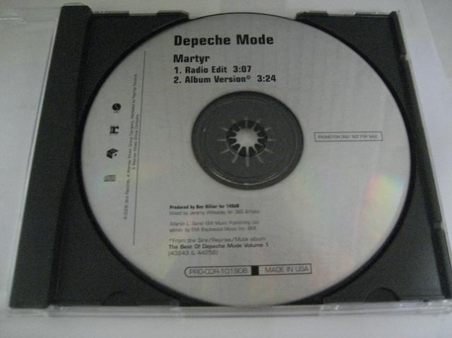 Depeche Mode - Martyr 2trk Promo Cd Cs24