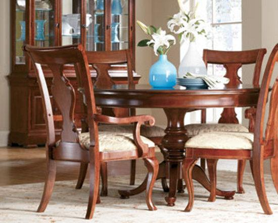 Thomasville furniture king street pedestal dining table optional side chairs ebay - King furniture dining table ...