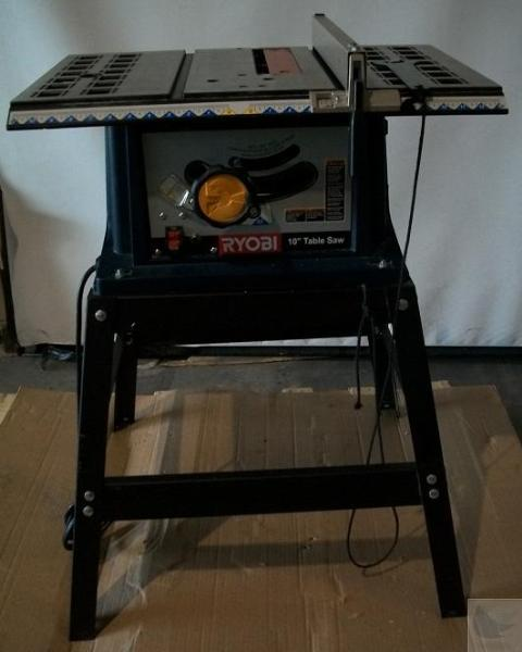 Ryobi Bts10 10 Inch Table Saw With Steel Stand Ebay