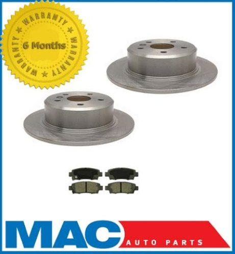 1999 Toyota Camry Brake Pads: 1995-1999 Toyota Avalon (2) Rear Brake Rotors & Ceramic