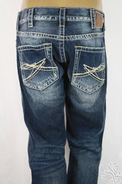 SILVER JEANS 925 Series Nash Straight Leg Indigo Wash Mens Pants ...