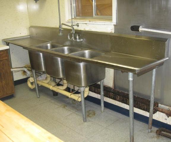 Details about Commercial Stainless Steel Triple Basin Compartment Sink ...