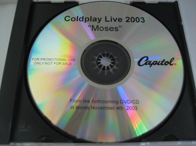 Coldplay - Moses 1trk U.s. Promo Test Press Cd Cs83