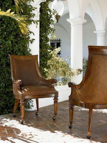 Ernest Hemingway Leather Valencia Club Chair Set