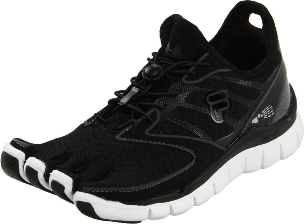 fila skele toes womens running shoe black black