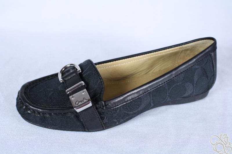 COACH Flores 12CM Signature C Black Womens Loafers Shoes ...