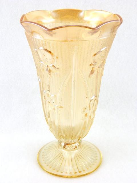 Vintage Jeannette Glass Iris Herringbone Iridescent
