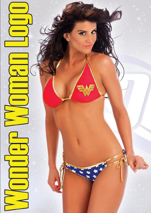 Wonder-Woman-Symbol-Stars-Halter-String-Bikini-Set-Officially-Licensed-S-XL