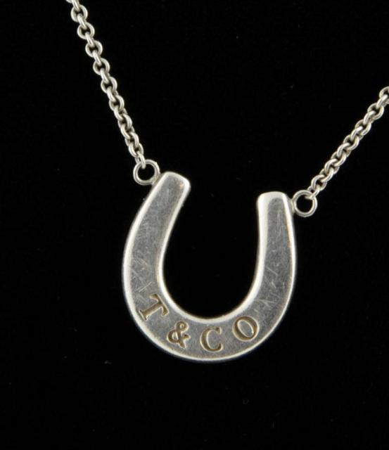 Tiffany & Co Sterling .925 Silver Lucky Horseshoe Pendant