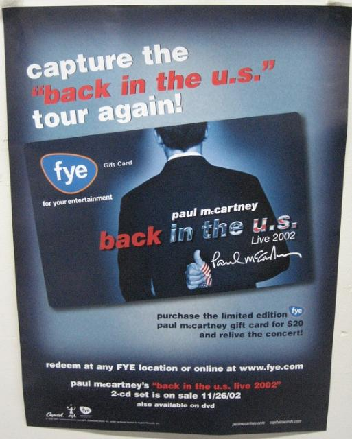 Paul Mccartney - Back In The U.s. Tour Again 18x24 Poster P2202